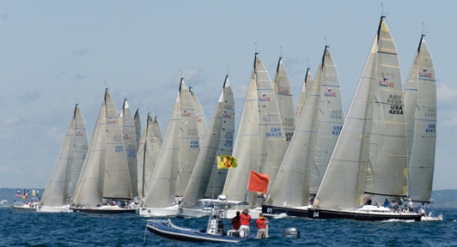 The start of race 8 of the Swan 42 NAs