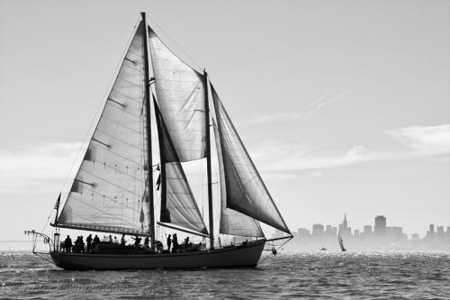 The Marconi-rigged schooner Seaward.